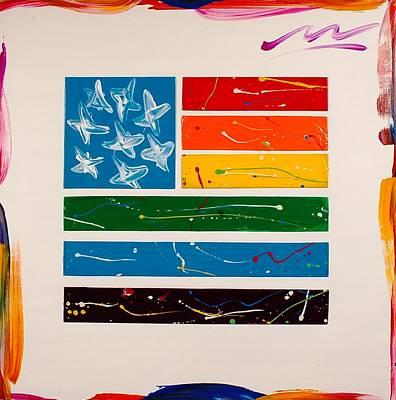 Rainbow Flag Art Print by Mac Worthington