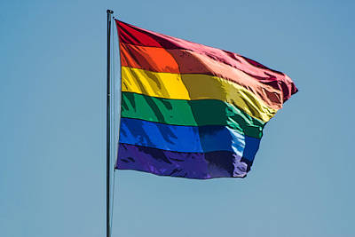 Rainbow Flag Original by Photographic Art by Russel Ray Photos