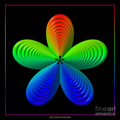 Digital Art - Rainbow Flower by Rose Santuci-Sofranko