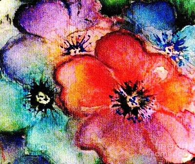 Painting - Rainbow Flowers by Hazel Holland