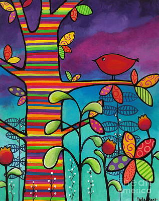 Painting - Rainbow Forest by Carla Bank