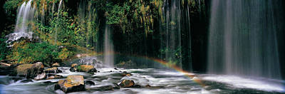 Rainbow Formed In Front Of A Waterfall Art Print
