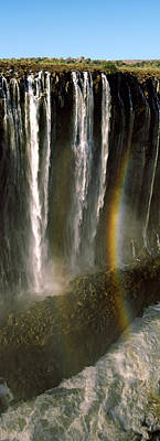 Victoria Falls Photograph - Rainbow Forms In The Water Spray by Panoramic Images