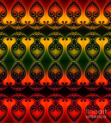 Digital Art - Rainbow Fractal Pattern by Clayton Bruster