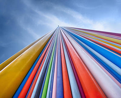Rainbow From A Cloud Art Print