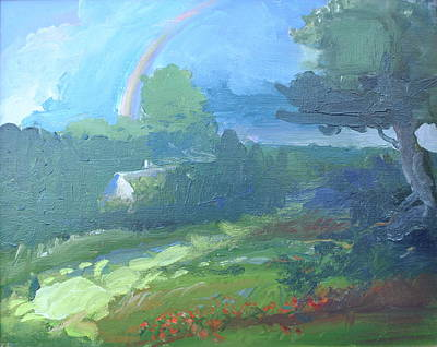 Palo Cedro Painting - Rainbow From Heaven by Patricia Kimsey Bollinger