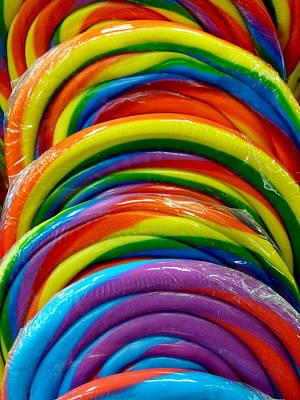 Photograph - Rainbow Giant Lollipop by Jeff Lowe