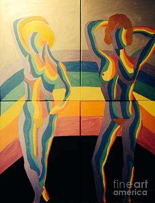 Painting - Rainbow Girls by Erika Chamberlin