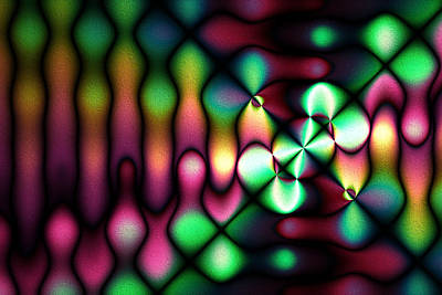 Digital Art - Rainbow Globules by Kiki Art