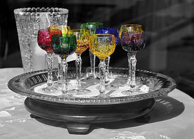 Photograph - Rainbow Goblets by Craig T Burgwardt