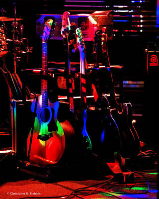 Photograph - Rainbow Guitars by Christopher Holmes
