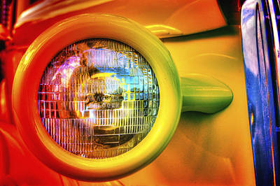 Photograph - Rainbow Headlight by Richard J Cassato