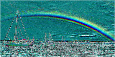 Katharine Hepburn - Rainbow Heaven 3 by Geoff Childs