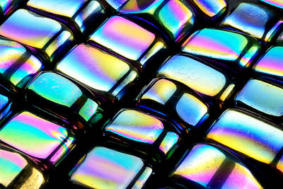 Iridescent Photograph - Rainbow Hematite by Jim Hughes