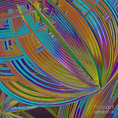 Generative Digital Art - Rainbow Hues Abstract by Deborah Benoit