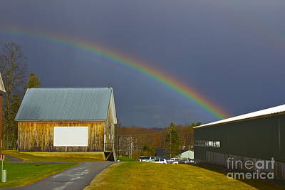 Rainbow In Maine Art Print