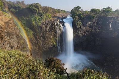 Rainbow In The Mist Of Victoria Falls Art Print