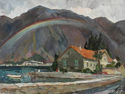 Painting - Rainbow In The Mountains by Juliya Zhukova