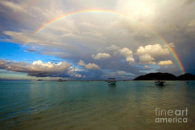 Photograph - Rainbow In The Seychelles by Tim Holt