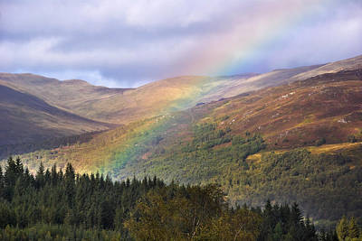 Photograph - Rainbow In The Trossachs by Jane McIlroy