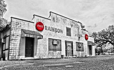 South Louisiana Photograph - Rainbow Inn - Selective Color by Scott Pellegrin