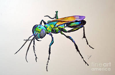 Painting - Rainbow Insect by Dion Dior
