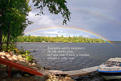 Photograph - Rainbow Inspirational Quote by Barbara West