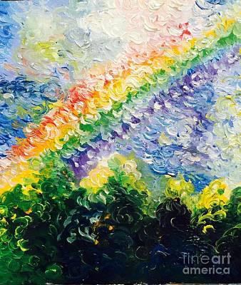 Painting - Rainbow  by Irene Pomirchy