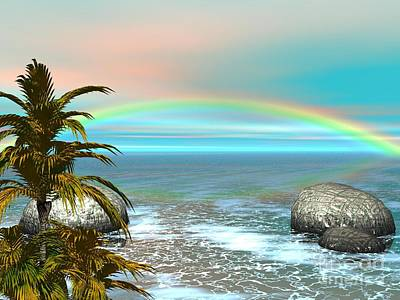 Digital Art - Rainbow by Jacqueline Lloyd