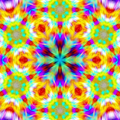 Digital Art - Rainbow Labyrinth by Derek Gedney