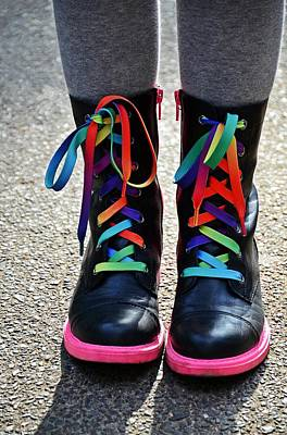 Rainbow Laces Art Print by Marianna Mills