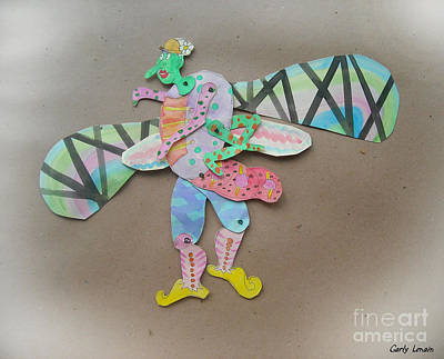 Rainbow Lady Bug 2003 Art Print by Carly Lenain
