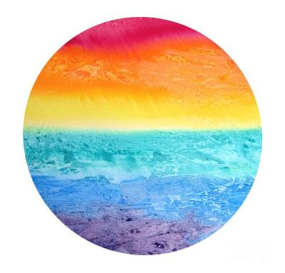 Rainbow Landscape  Art Print by Susan  Dimitrakopoulos