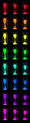 Photograph - Rainbow Lava Lamps by Semmick Photo