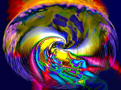 Rainbow Liberty V.6 Art Print by Rebecca Phillips