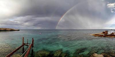 Grey Clouds Photograph - Rainbow Light by Stelios Kleanthous