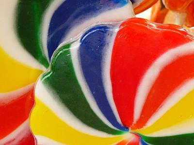 Photograph - Rainbow Lollipop Close by Jeff Lowe