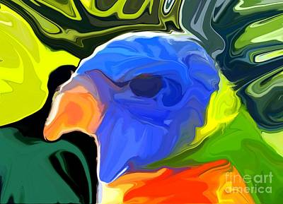 Parakeet Digital Art - Rainbow Lorikeet by Chris Butler