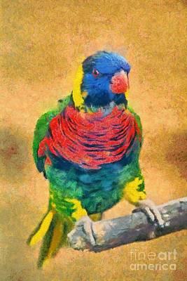 Zoo Photograph - Rainbow Lory by George Atsametakis