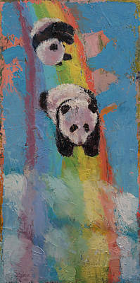 Cuddly Painting - Rainbow by Michael Creese