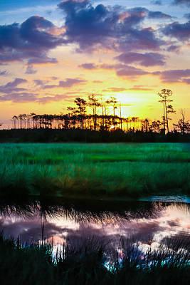 Stellar Interstellar Royalty Free Images - Rainbow Morning Marsh Royalty-Free Image by Paula OMalley