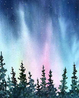 Rainbow Night Art Print
