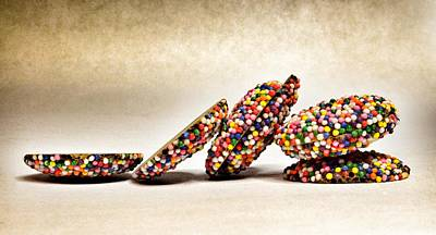 Photograph - Rainbow Non Pareils Chocolate by Marianna Mills