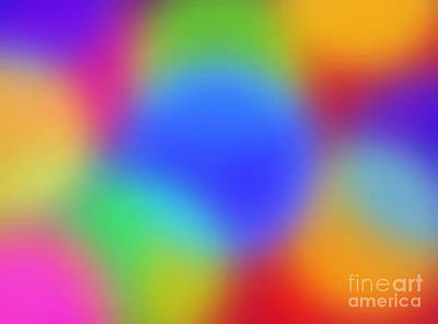 Rainbow Of Colors Art Print by Gayle Price Thomas