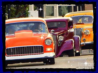 Photograph - Rainbow Of Cruisers Poster Print by Bobbee Rickard