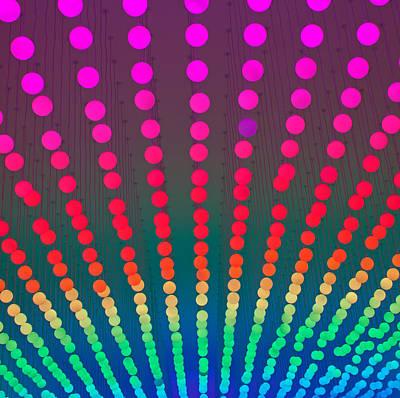 Rainbow Of Lights Art Print by Jean Haynes