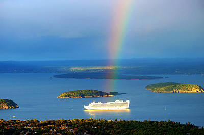 Photograph - Rainbow On The Ship In Acadia National Park Maine by Paul Ge