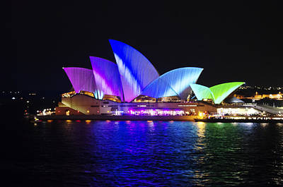 Opera House Photograph - Rainbow Opera House by Jason Hughes