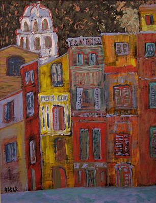 City Scenes Painting - Rainbow  by Oscar Penalber
