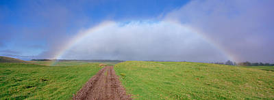 Dirt Roads Photograph - Rainbow Over A Landscape, Kamuela, Big by Panoramic Images
